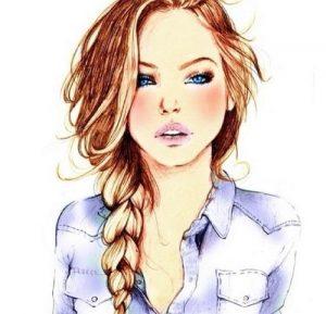Прикольные рисованные картинки девушек 019