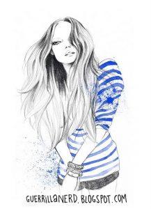 Прикольные рисованные картинки девушек 022