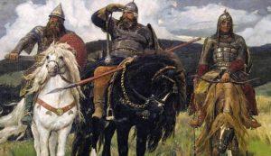 Прикольные рисунки про русских богатырей 029