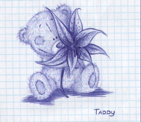 Рисунки ручкой в тетради прикольные для девочек для начинающих
