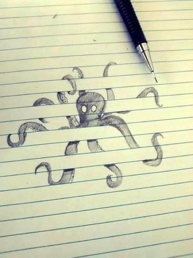 Самые прикольные рисунки ручкой, первым