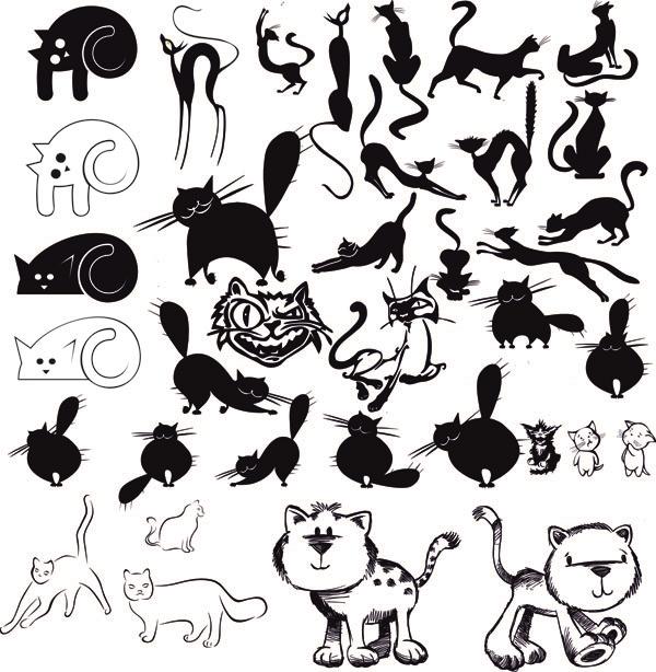 Рисунки векторные с кошкой прикольные, 2012 картинках