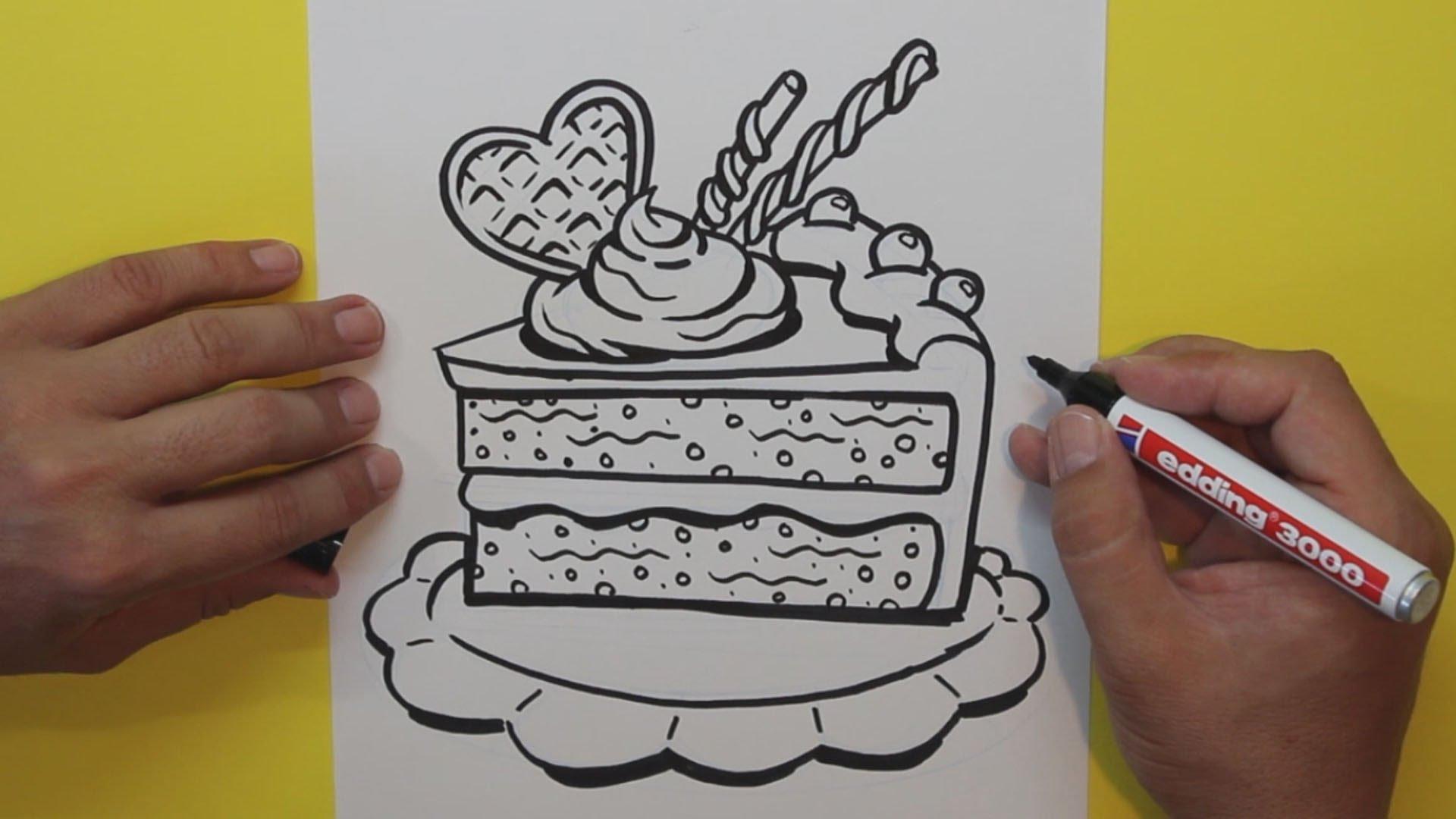 Простые и красивые картинки для срисовки еда (26)