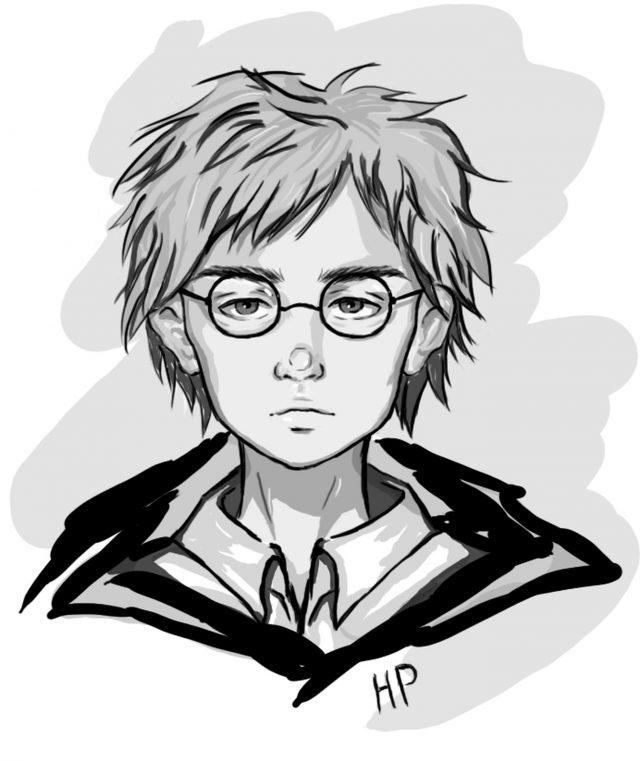 Простые рисунки Гарри Поттер   подборка029