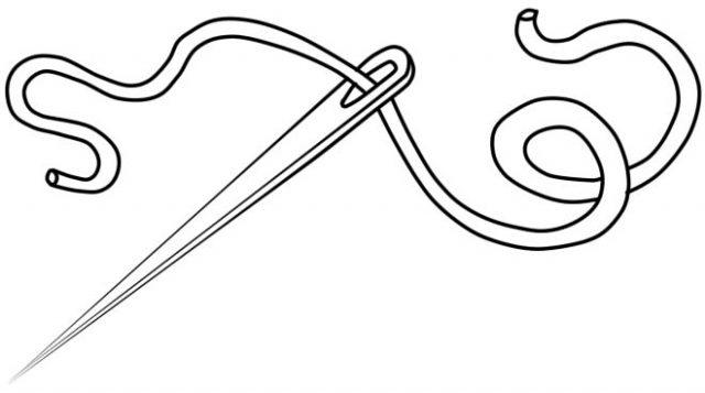 Раскраска иголка с ниткой   подборка 002