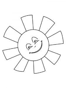 Раскраска солнышко с лучиками распечатать 029
