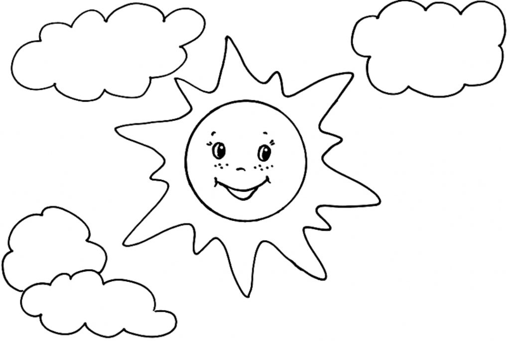 Солнце картинки для детей раскраска, обиделся картинках
