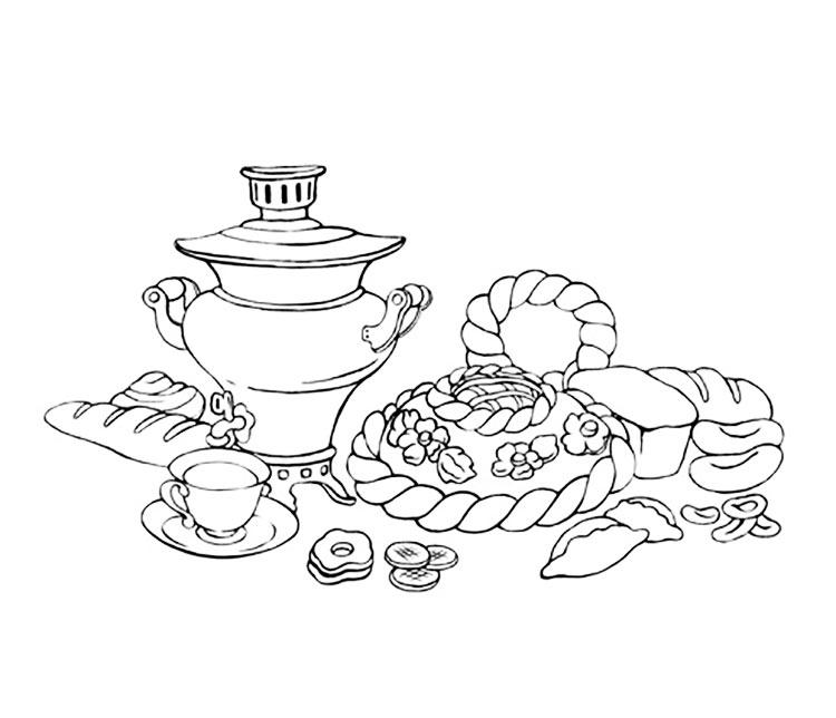 Раскраска про хлебобулочные изделия