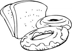 Раскраски хлеба и хлебобулочных изделий для детей (28)