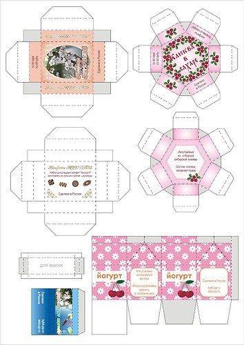 Распечатки коробки для кукол   фото и картинки003