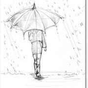 Ребенок с зонтиком картинки и рисунки 022