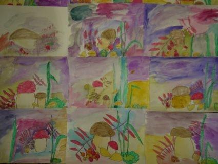 Рисование на тему грибы и ягоды 005