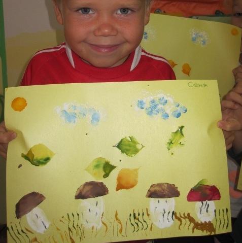 Рисование на тему грибы и ягоды 007