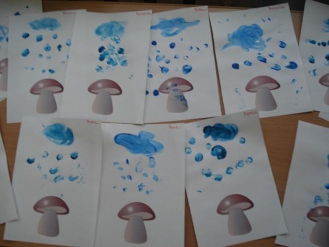 Рисование на тему грибы и ягоды 008