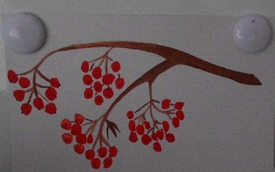Рисование на тему грибы и ягоды 011