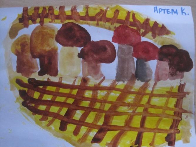 Рисование на тему грибы и ягоды 014