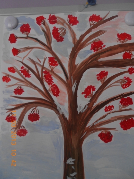 Рисование на тему грибы и ягоды 019