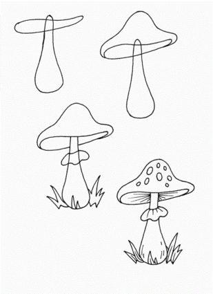 Рисование на тему грибы и ягоды 022