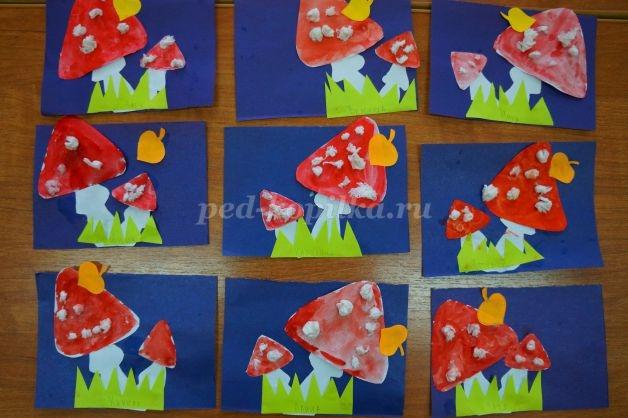 Рисование на тему грибы и ягоды 023