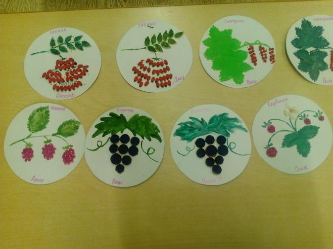 Рисование на тему грибы и ягоды 027