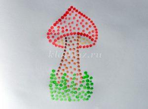 Рисование на тему грибы и ягоды 028