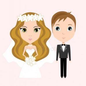 Рисованные картинки жениха и невесты   подборка (20)