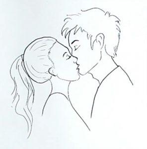 Рисовать карандашом девушку и парня   рисунки 023