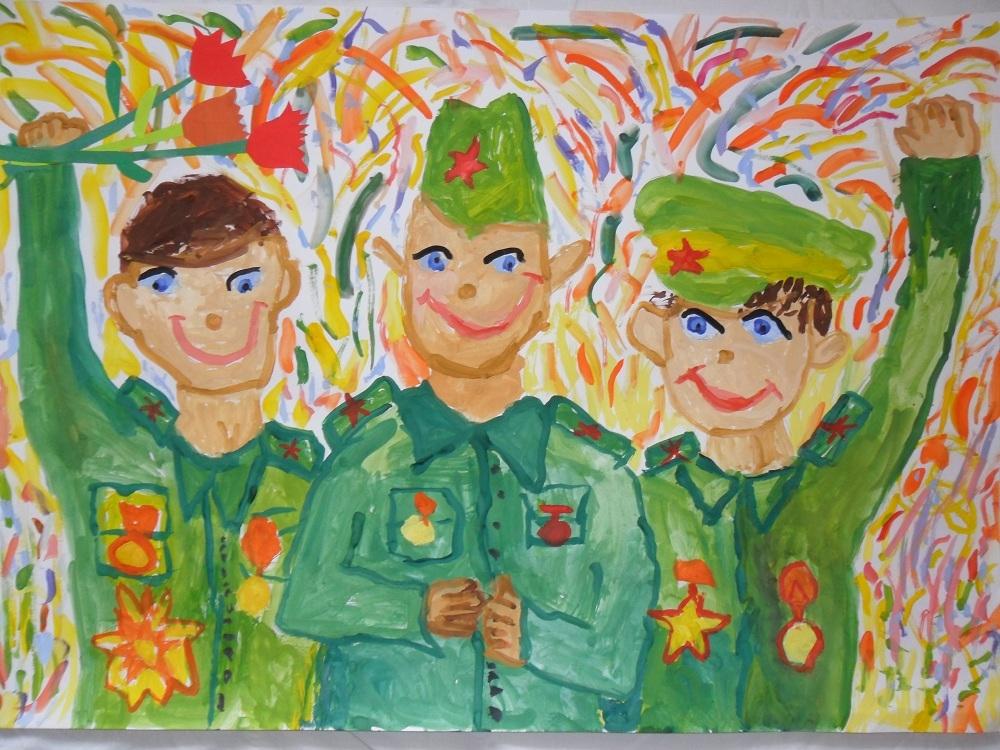 Днем, рисунок к дню защитника отечества в школу
