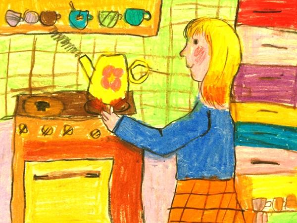 Рисунки Как я помогаю маме по дому   сборка (9)