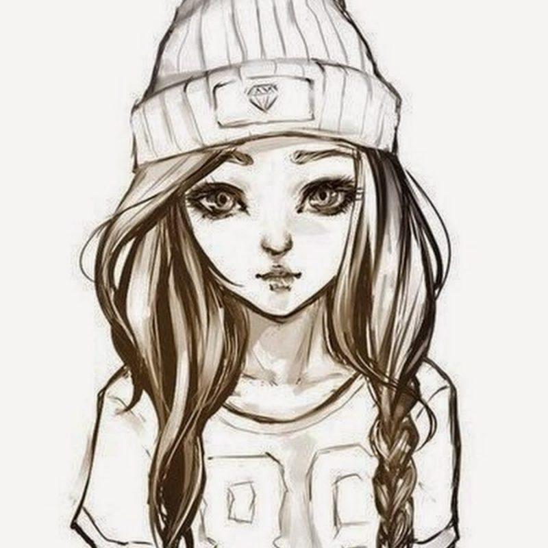 Рисунки в лд для срисовки для девочек   подборка (4)