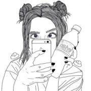 Рисунки девушек в стиле тумблер для срисовки019
