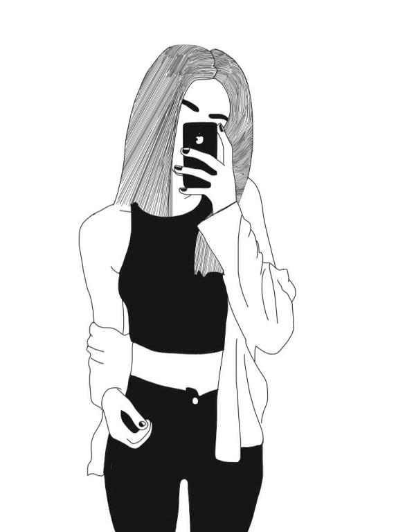 Крутые картинки для девочек черно белые