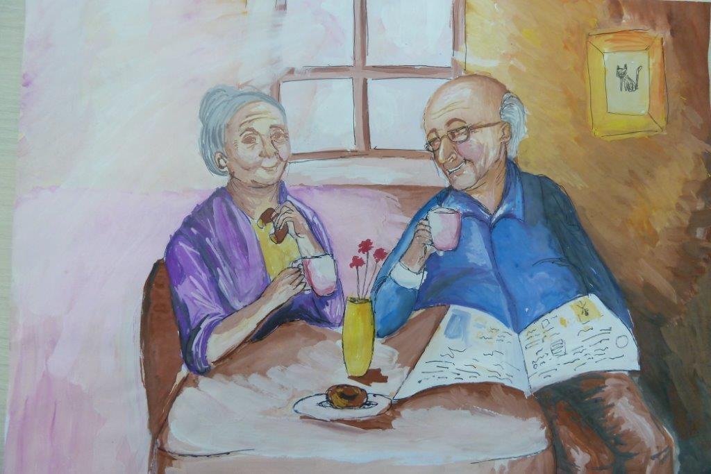 Бабушка рядышком с дедушкой картинки