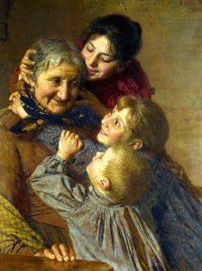 Рисунки детские на тему бабушка и дедушка   подборка 023