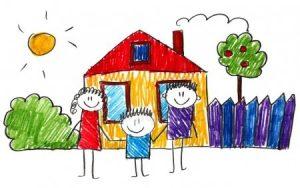 Рисунки для детей домиков и домов 024