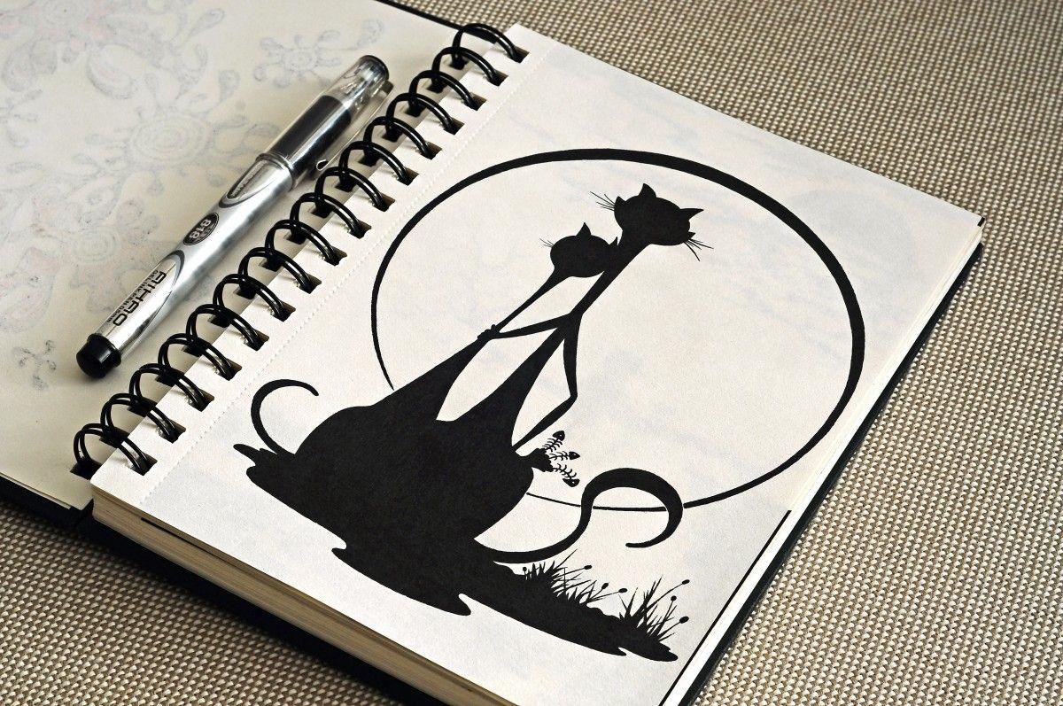 Рисунки для ежедневника карандашом   няшные и цветные (2)