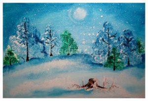 Рисунки и картина леса для детей 028