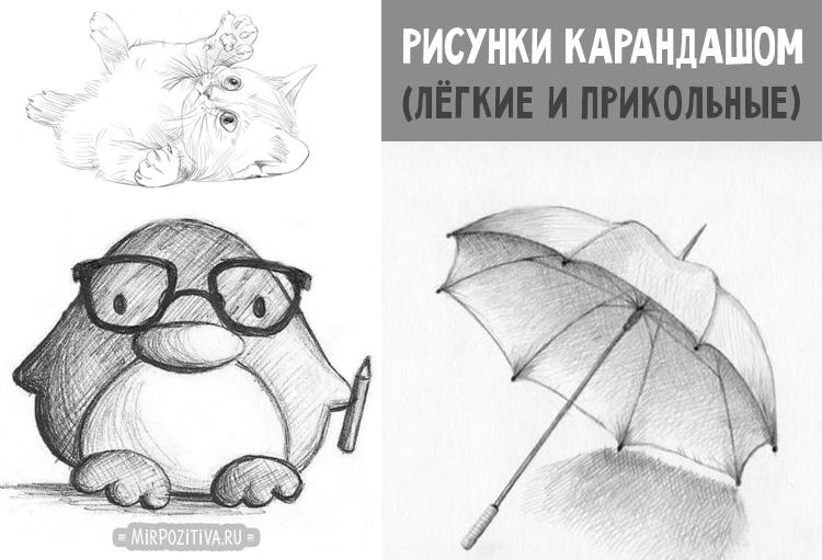 Рисунки карандашом легкие и смешные 013