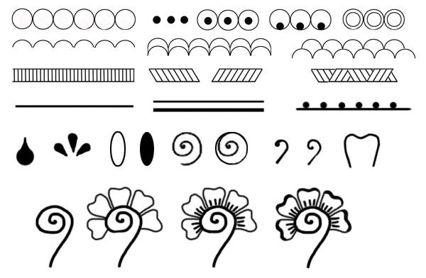 Рисунки карандашом простые узоры   коллекция011