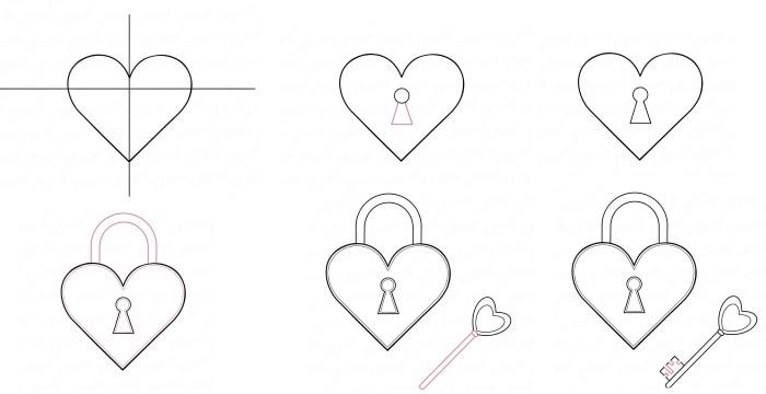 Рисунки карандашом простые узоры   коллекция012