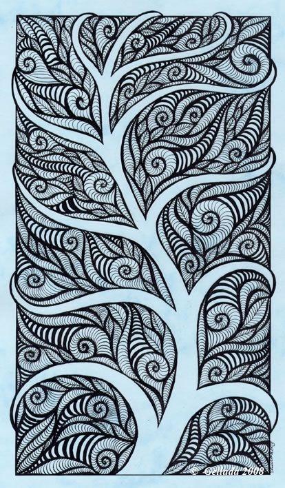 Рисунки карандашом простые узоры   коллекция013