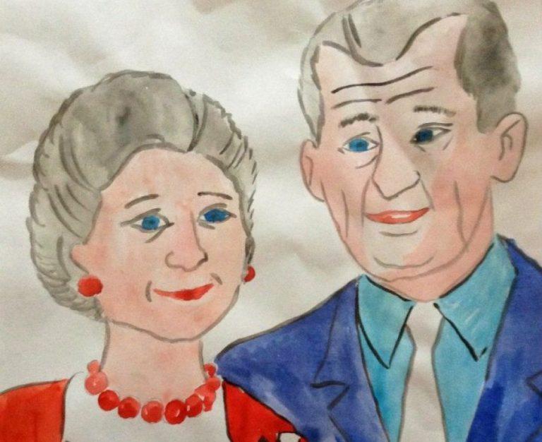 Нарисованные картинки бабушки и дедушки