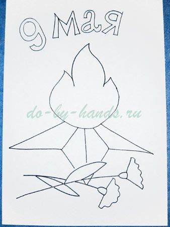 Рисунки на тему день победы 9 мая 029
