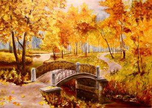 Рисунки на тему осенний парк 027