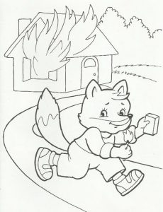 Рисунки на тему пожарной безопасности детские. картинки 027