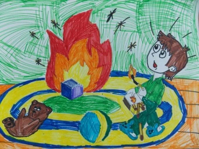 Рисунки по пожарной безопасности для начальной школы007