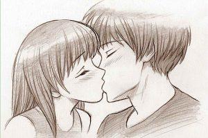 Рисунки про любовь девушки с парнем карандашом   сборка (30)