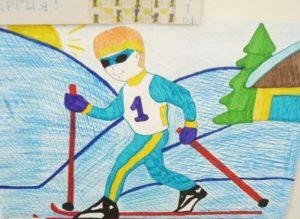 Рисунки про спорт для школьников 028