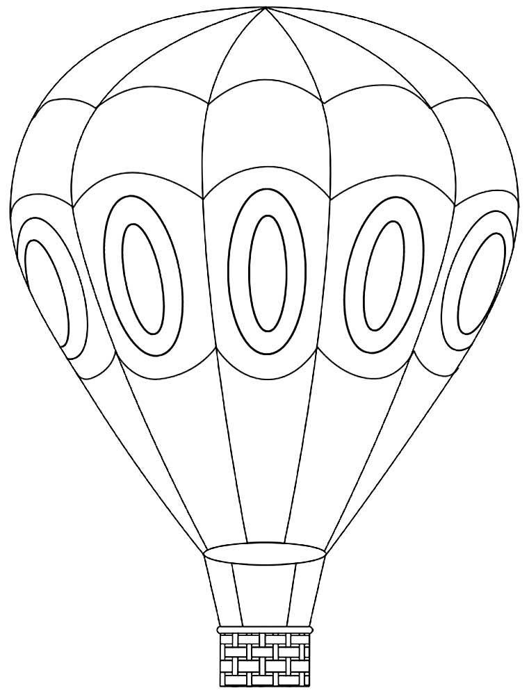 корзина воздушного шара рисунок том, что