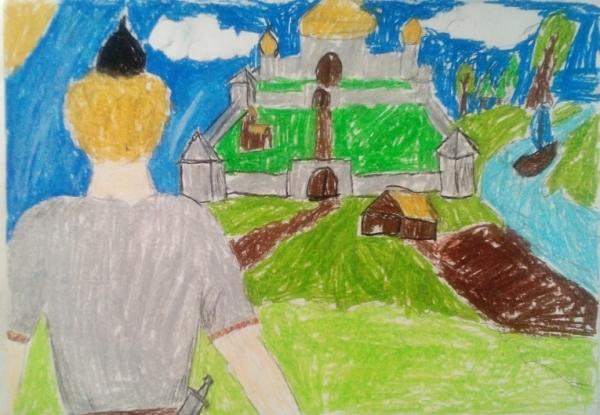 Рисунок волшебного города 4 класс 003
